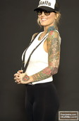 Janine Lindemulder Balls on her Forehead